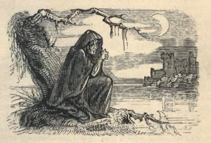 """Banshee"" by W.H. Brooke - http://www.archive.org/details/fairylegendstrad00crokrich. Licensed under Public Domain via Commons - https://commons.wikimedia.org/wiki/File:Banshee.jpg#/media/File:Banshee.jpg"