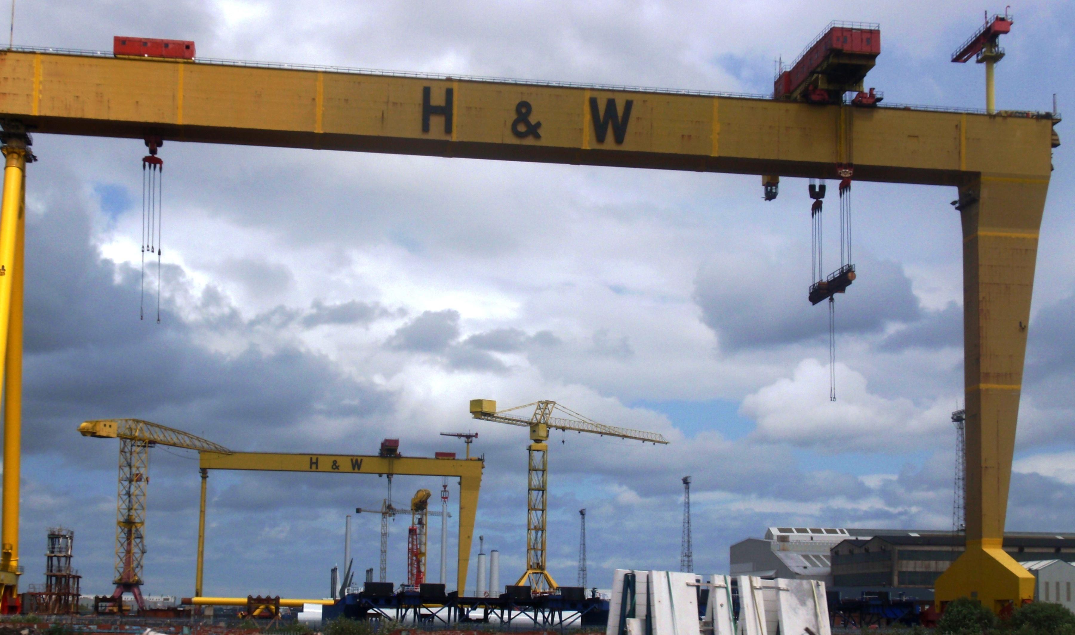 Harland and Wolff cranes, Belfast 2009