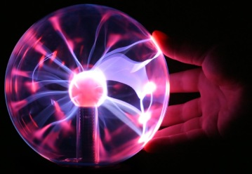 Electrical plasma globe glass