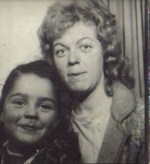 Margaret with mum, Shore Rd 1972