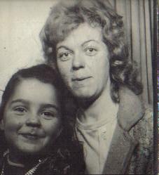 Margaret with mum, Shore Rd 1972